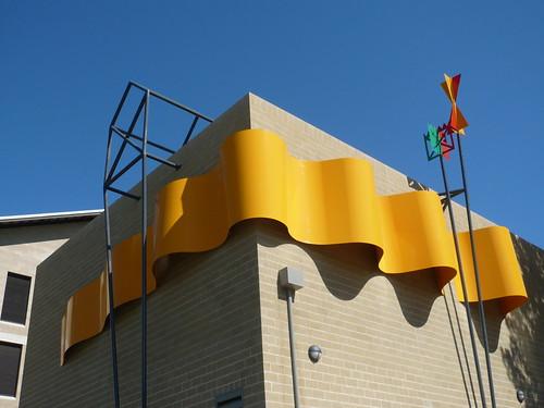 """Rounding the Weather Mark"" Chiller Building Murdoch University   by tonyjonesart"