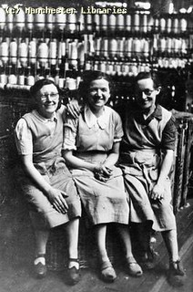women in cotton factory, Manchester, 1935