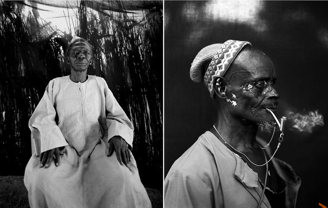 'Makasutu - mecca in the forest' B&W portraits of Gambian village chiefs (Alkalo's) and elders, The Gambia, West Africa