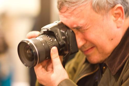 Mikel Agirregabiria, el cameraman fotografiado