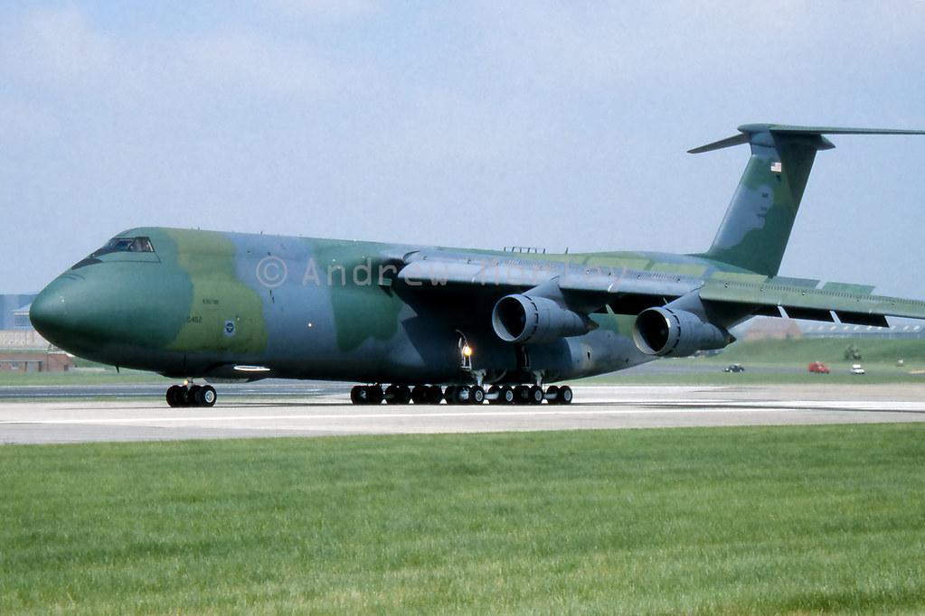 USAF C-5A at Boscombe Down 1992.