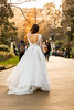 Walking around with a wedding dress