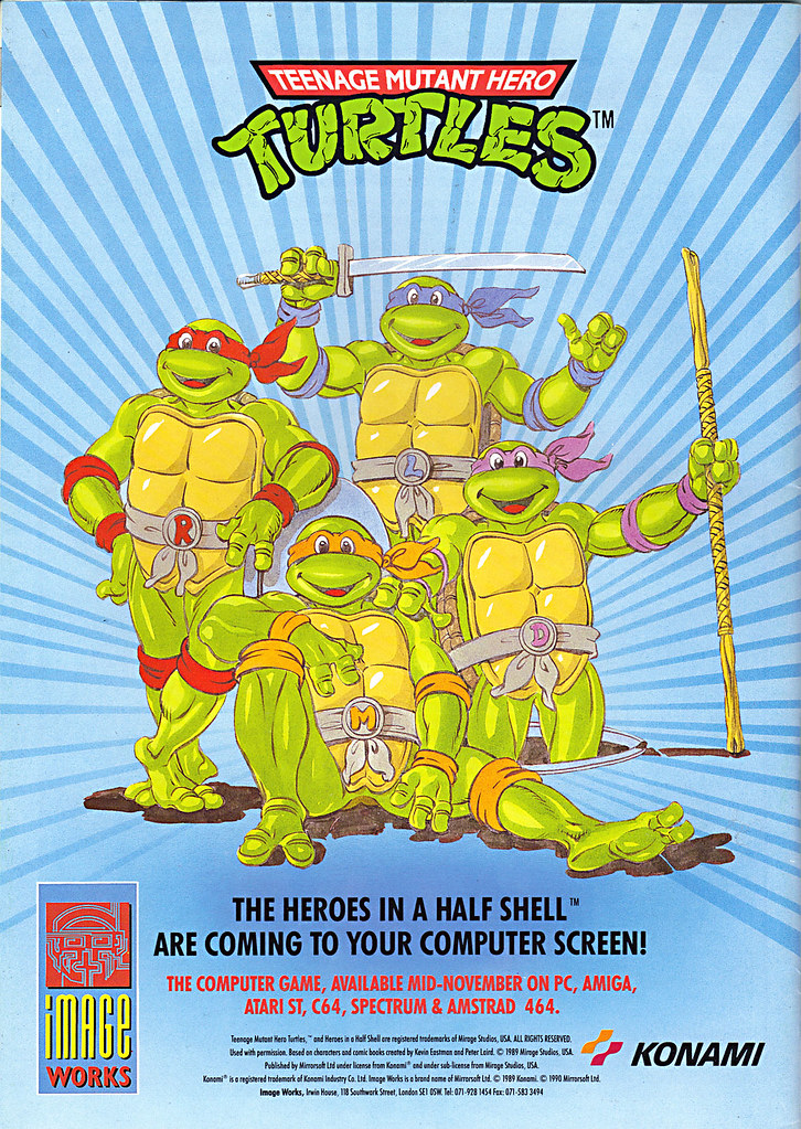"IMAGE WORKS :: ""TEENAGE MUTANT HERO TURTLES""-'THE HEROES IN A HALF SHELL ARE COMING TO YOUR COMPUTER SCREEN!' (( 1990 )) by tOkKa"