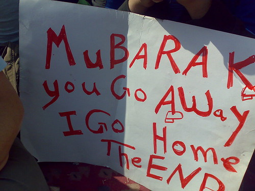 Mubarak You Go Away, I Go Home. The End | by RamyRaoof