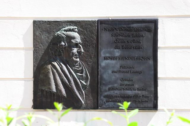 Gedenktafel für Moses Mendelssohn