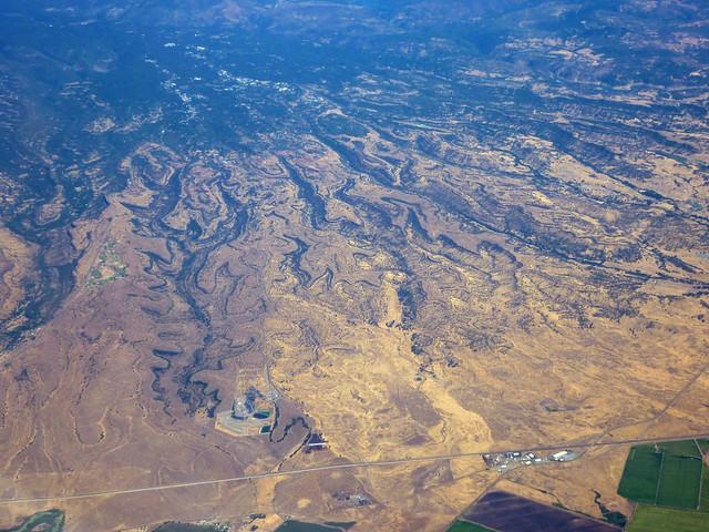 Weird terrain in northern CA