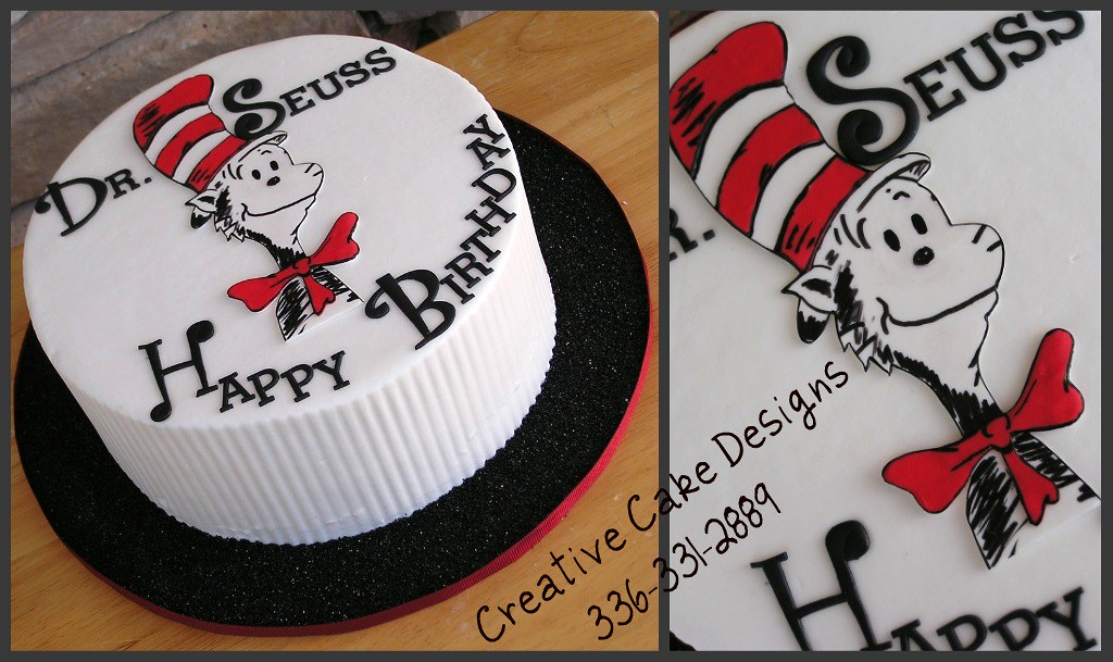 Incredible Dr Seuss Birthday Cake Buttercream Cake Hand Cut Out The Flickr Funny Birthday Cards Online Alyptdamsfinfo