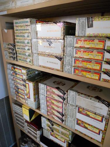 Stacks of Punch Cuban Cigars