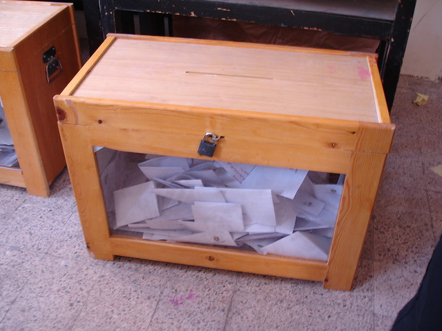 The ballot box is full