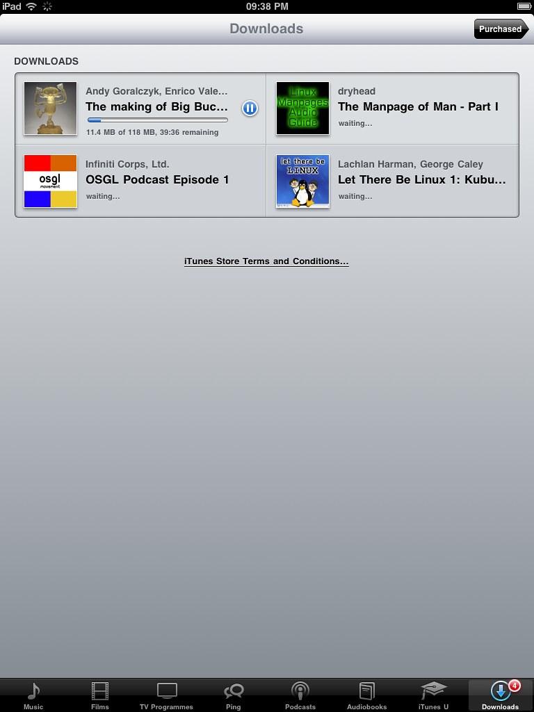 ios ipad podcast downloads