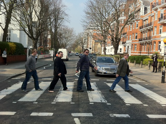 Walking down Abbey Road