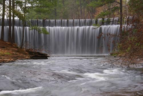 trees lake water waterfall rocks dam alabama rapids spillway lakeharris tuscaloosaalabama tuscaloosacounty deerlickcreek