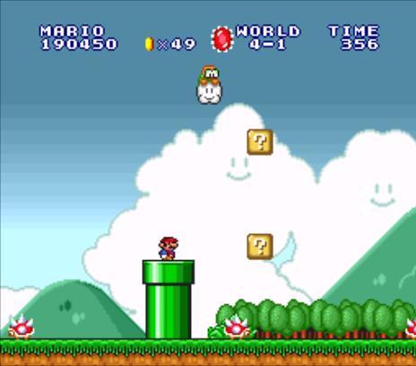 Super Mario All Stars: Super Mario Bros - World 4-1 (Super