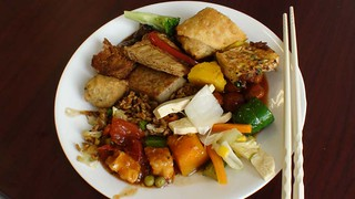 Lunch At Vegan Buffet   by thedailyenglishshow