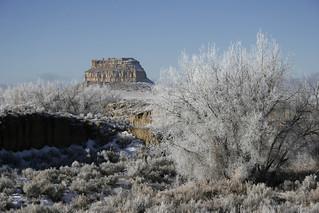 Fajada Butte in Winter