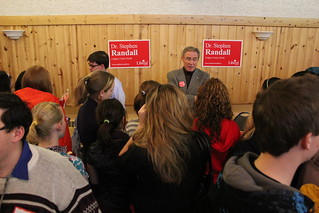 Stephen talking to voters | by teamStephenRandall