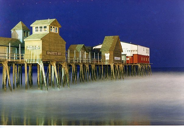 Old Orchard Beach Pier Time Exposure, 1986
