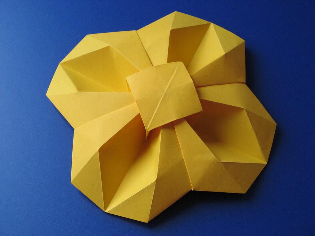 0rigami Fiori.Fiore Geometrico Geometric Flower Tecnica Origami Con Flickr