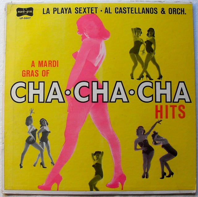 1950s CHA CHA CHA Hits LA PLAYA SEXTET vintage vinyl record album LP
