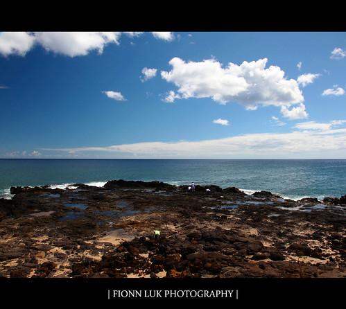 ocean trip blue summer vacation sky usa nature water clouds canon landscape island hawaii lava us rocks waves view unitedstates south united horizon scene kauai spoutinghorn poipu 5d states horn luk spouting fionn