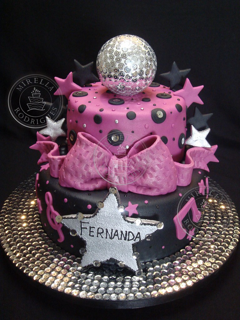 Surprising Bolo Decorado Discoteca Disco Birthday Cake Mirel Flickr Funny Birthday Cards Online Hendilapandamsfinfo