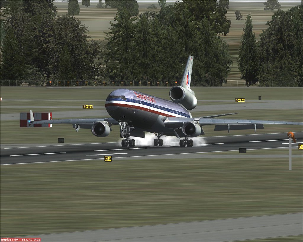 American Airlines MD-11 | FSX screenshot  PMDG MD-11 arrival