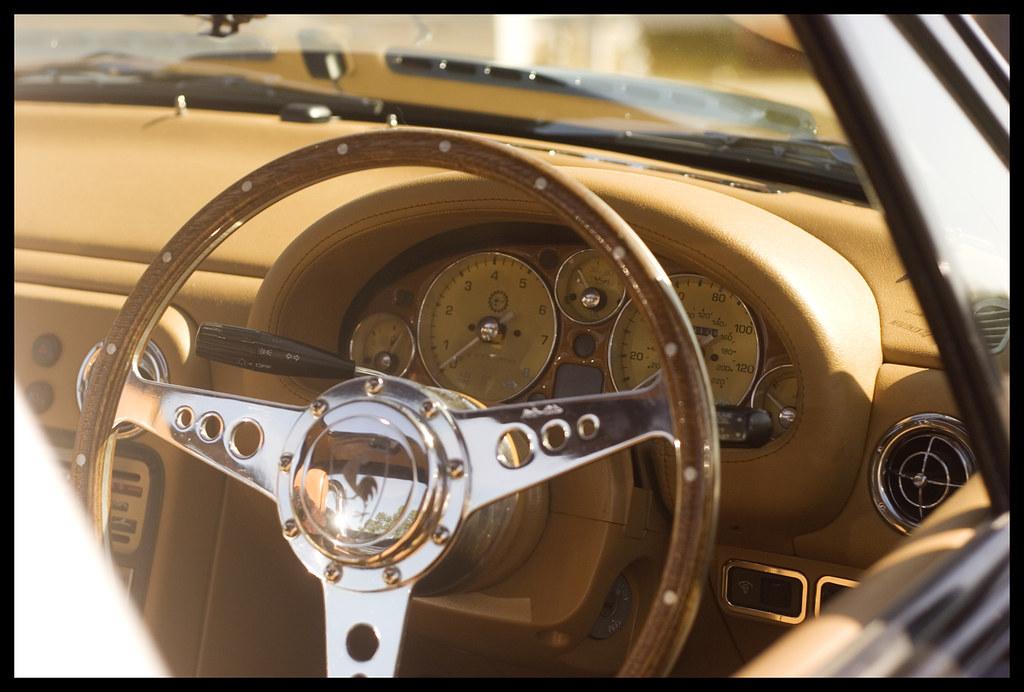 Vintage Miata Gauges | A custom set of gauges in a Miata des