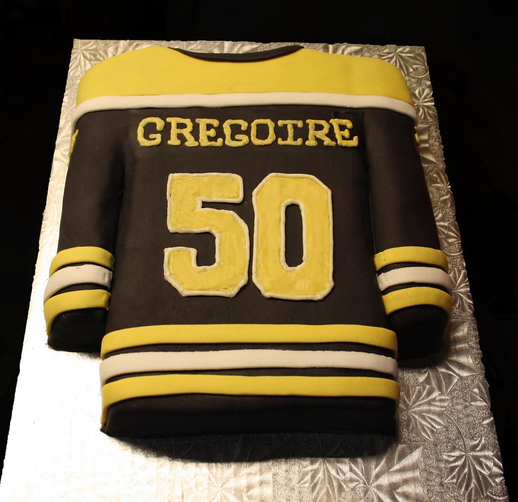 big sale 0d643 dbee8 Boston Bruins Hockey Jersey cake | Amy | Flickr