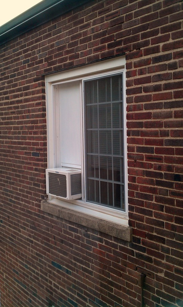 Sliding Window Air Conditioner Frame Installed From Outs