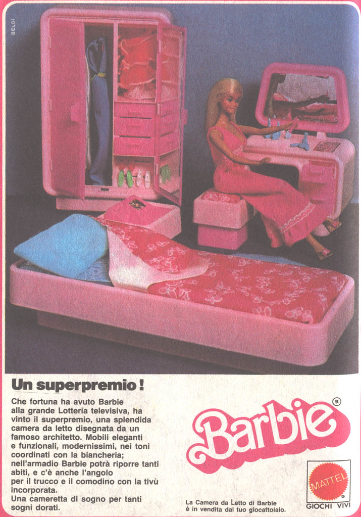 Barbie advertising - Pubblicità di Barbie 1983 - Camera da… | Flickr