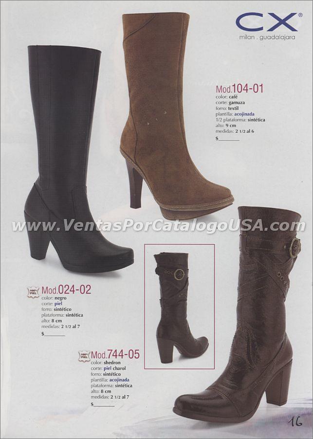 7cb74360c2e ... Outlet de botas de cuero botines para dama mujeres con calzas venta por  catalogo shoes trabajo