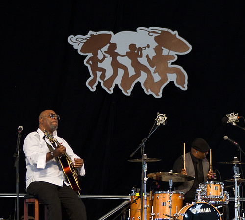 Mashup, featuring Terence Higgins, Ike Stubblefield & Grant Green, Jr. at the WWOZ Jazz Tent. These guys were on FIRE!!