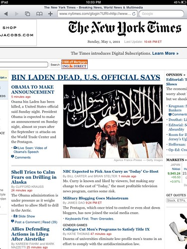 History Made: Osama Bin Laden Confirmed Dead | by David Armano