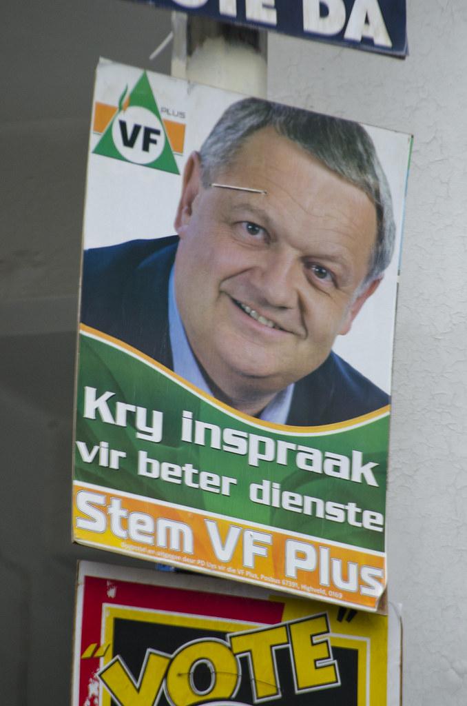 Image result for Vryheidsfront plus election poster poster