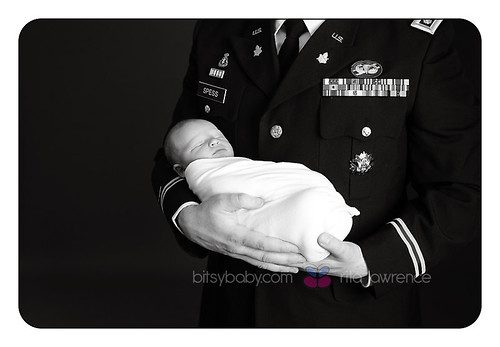 newborn photography military Dad | by Bitsy Baby Photography [Rita]