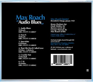 "Max Roach - ""Audio Blues"" CD (back) 