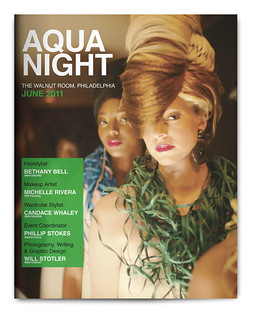 Design Project: Aqua Night Magazine Spread - Cover | by willstotler