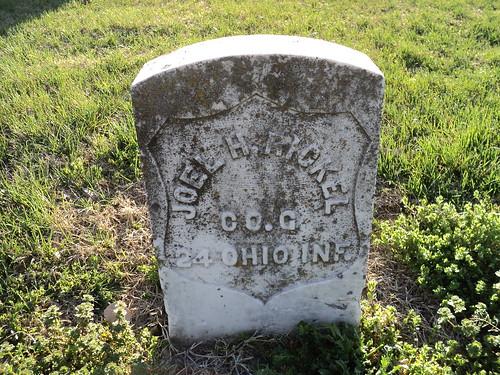 ohio union hobby civilwarveteran tombstonephoto joelhenryrickel companyg24thohioinfantry