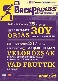 2011. március 23. 16:35 - XII. Backpackers' Spring Festival