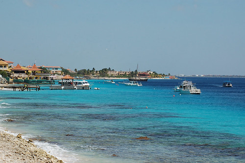 "vista bonaire sea ""flickraward"" seascape shore beach outdoor boat coast water sky caribbean pier"
