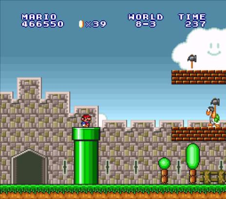 Super Mario All Stars: Super Mario Bros - World 8-3 (Super