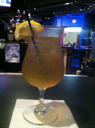 Long island iced tea at a night club
