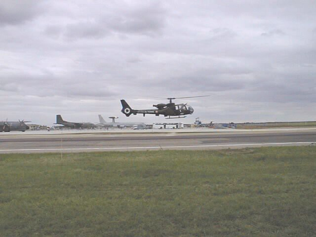 Hélicoptère Gazelle en vol