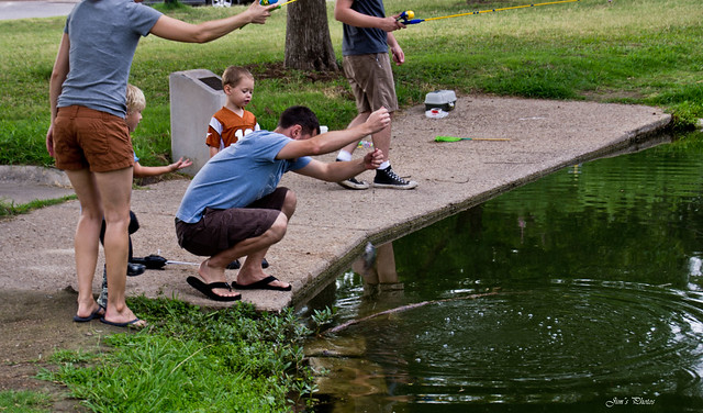 Fishing in the park.