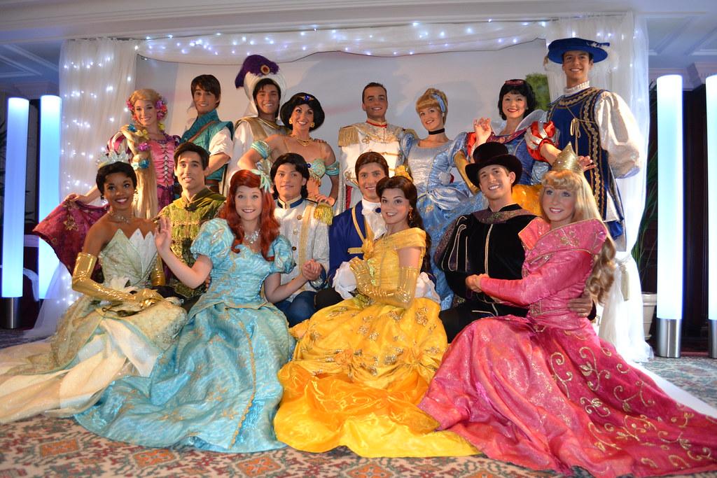 Meeting The Disney Princesses And Princes At The Princess Flickr