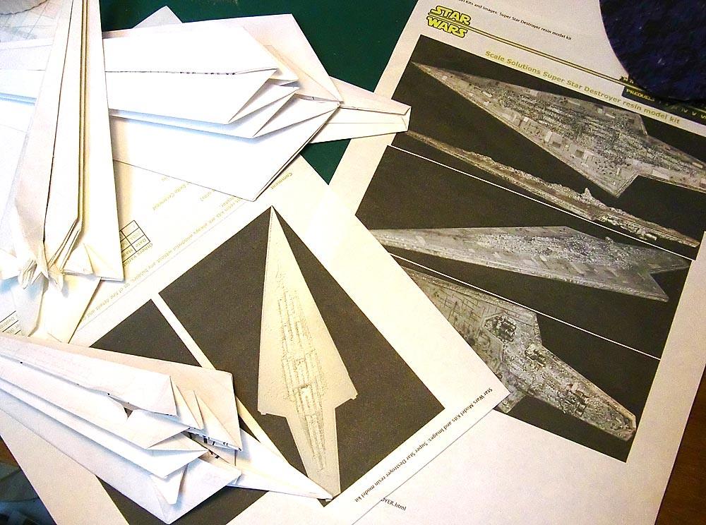 Super Star destroyer origami under construction | triple fol