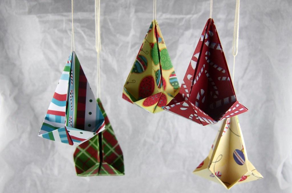 Origami Christmas Ornaments Folded By Cindy Y Ho Flickr
