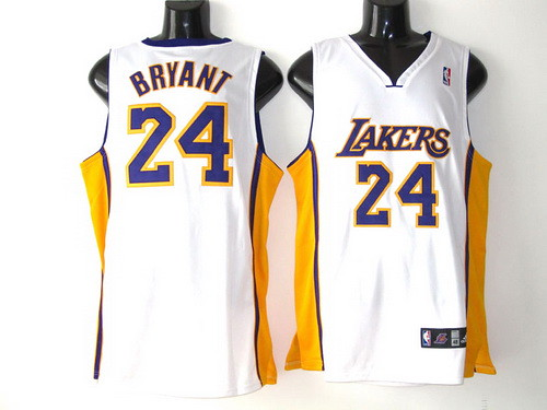 super popular c8ede 06548 Los Angeles Lakers 24 Kobe Bryant white | Brand new with tag ...