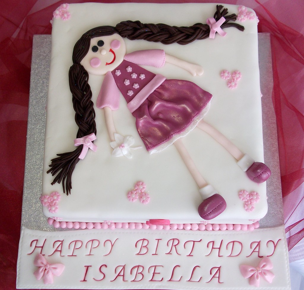Amazing Little Girls Birthday Cake Melanie Vanilla Cake With Va Flickr Funny Birthday Cards Online Unhofree Goldxyz