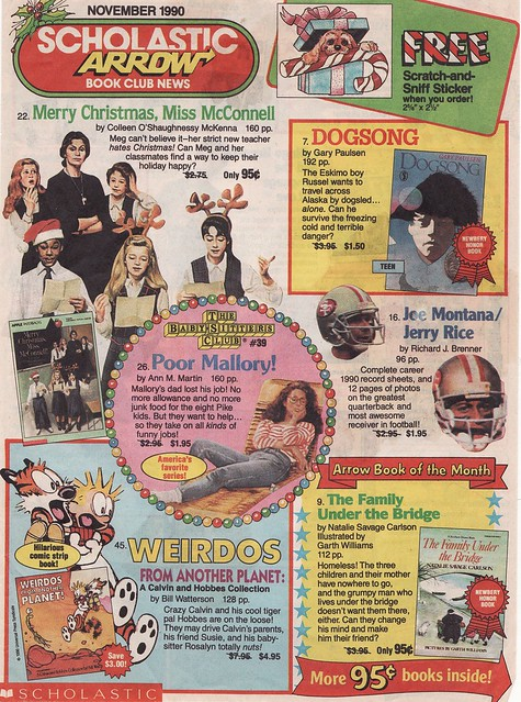 Scholastic Book Order Form, 1990